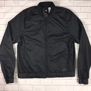 Adidas Mesh Athletic Track Jacket Top Sz S 8-10